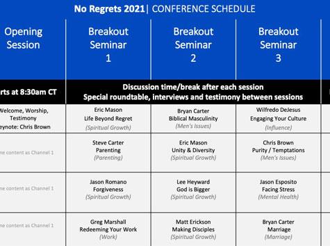 Schedule & Session Descriptions